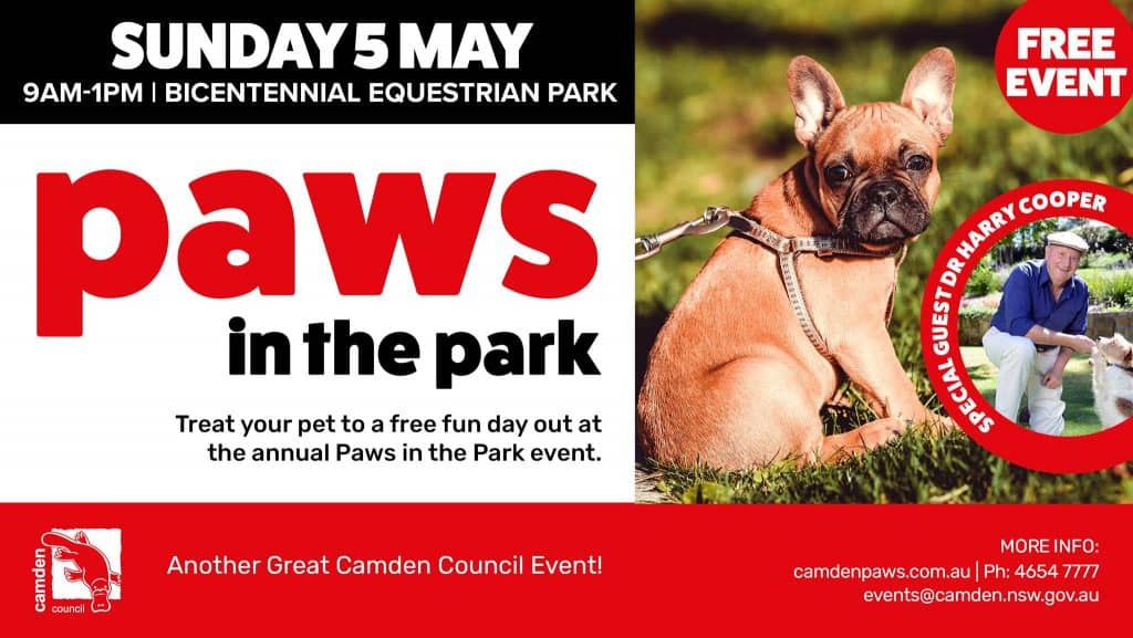 Paws In the Park Event
