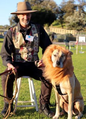 Wayne and Missy the Lion Dog