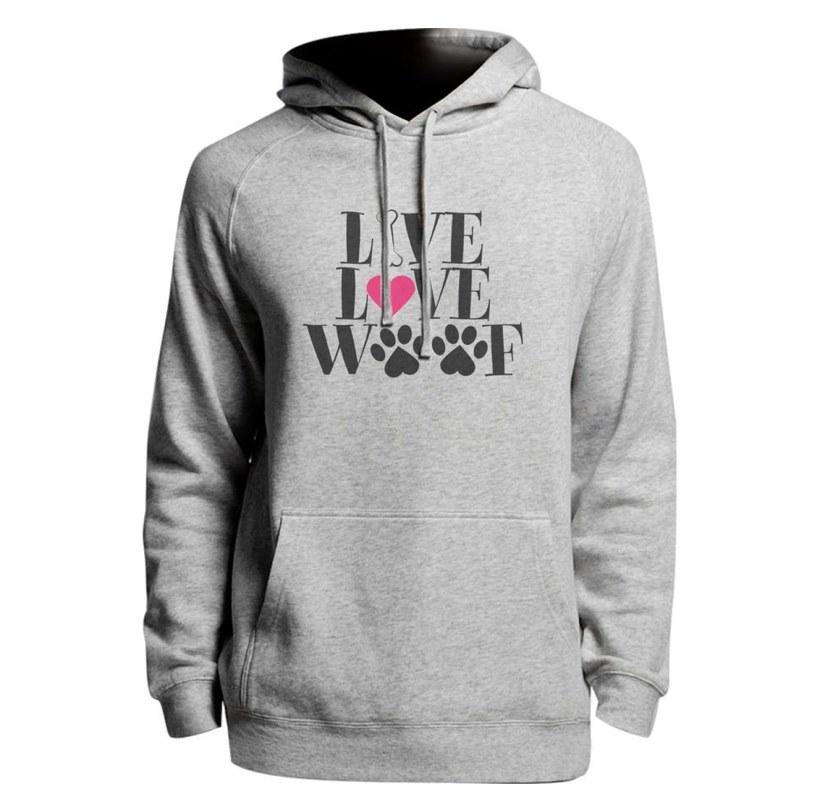 Printed hoodie we love woof