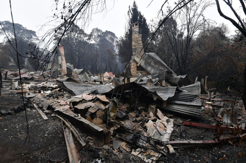 building destroyed by fire